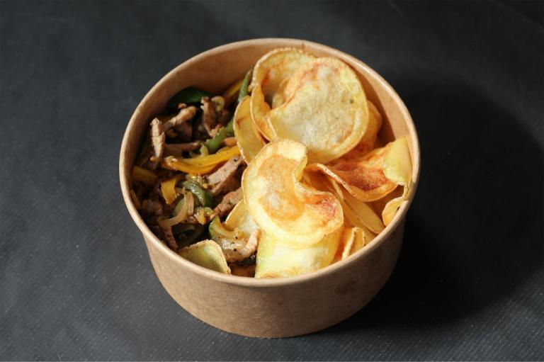 Emincés Accompagnés de Chips Maison
